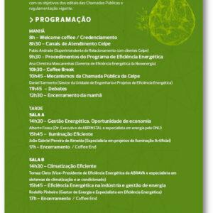 A Celpe convida: Conheça as oportunidades para reduzir sua conta de energia – Workshop Eficiência Energética