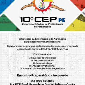Próximo Encontro Preparatório do Crea-PE acontece em Arcoverde