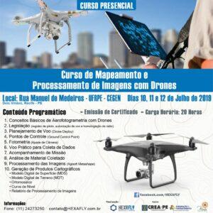 Parceria entre Hexafly e Crea-PE viabiliza a realização da IV turma do curso de Mapeamento e Processamento de Imagens com Drones no Recife