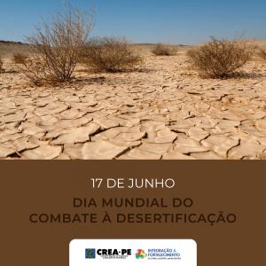 Crea-PE lembra da importância doDia Mundial de Combate à Desertificação