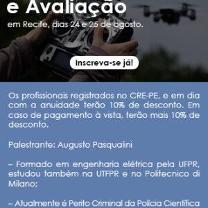CONPEJ oferece curso de drones para pericia e avaliação nos dias 24 e 25 de agosto