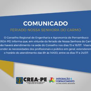 ALTERAÇÃO DE ATENDIMENTO – FERIADO NOSSA SENHORA DO CARMO