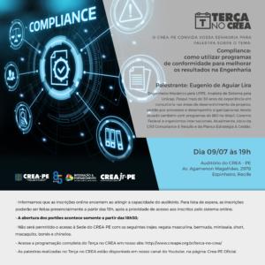 EVENTO CANCELADO – Terça no Crea com palestra sobre Compliance