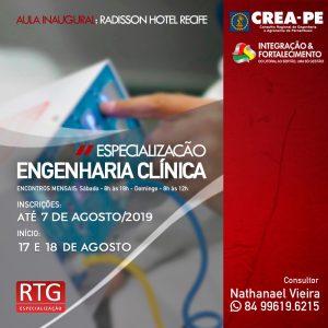 RTG Especialização oferece Pós-Graduação Lato Sensu em Engenharia Clínica no Recife