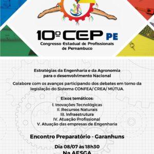 Encontro Regional em Garanhuns será o penúltimo antes do CEP