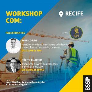Murilo Reis e Tácito Quadros realizam workshop no Recife