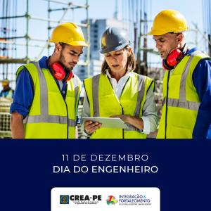Parabéns aos Engenheiros de Pernambuco e do Brasil