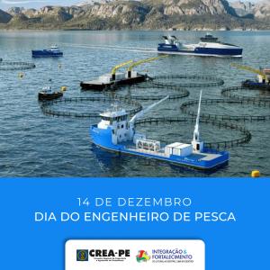 Crea-PE saúda a todos os engenheiros de pesca pernambucanos