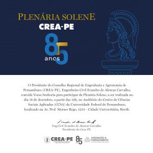 Plenária Solene do CREA-PE encerra calendário de 2019