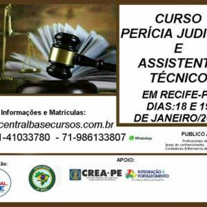 Central Base oferece curso de Perícia Judicial e Assistência Técnica