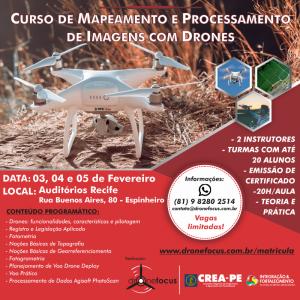 DroneFocus abre inscrições para nova turma do curso de Mapeamento e Processamento de Imagens com Drones