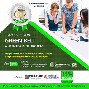 Curso Lean Six Sigma Green  Belt + Mentoria do projeto – Início: 19 de março de 2020
