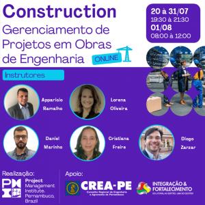 PMI-PE abre inscrições para o Curso on-line Construction – Gerenciamento de Projetos em Obras de Engenharia