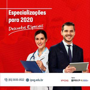 Conheça os cursos de especialização programados para 2020 pelo IPOG com condições especiais para Profissionais do Crea-PE