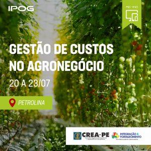 IPOG LANÇA CURSO RÁPIDO DE GESTÃO DE CUSTOS NO AGRONEGÓCIO