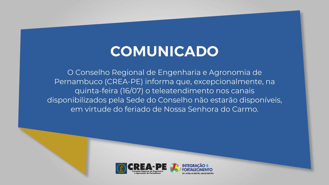 Read more about the article TELEATENDIMENTO SEDE – FERIADO NOSSA SENHORA DO CARMO