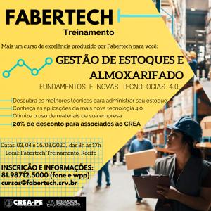 Curso de Gestão de Estoques e Almoxarifado– Fundamentos e Novas Tecnologias 4.0 com 20% de desconto