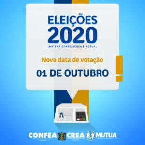 Sistema Confea/Crea e Mútua realizará eleições em 1º de outubro