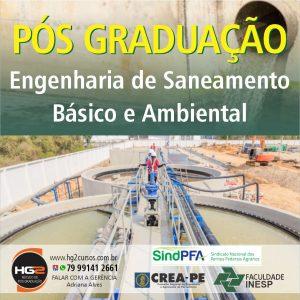 HG2/INESP abre Inscrições para Pós-Graduação em Engenharia de Saneamento Básico e Ambiental