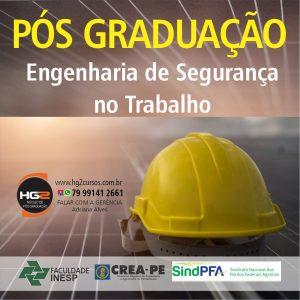 Inscrições abertas para Pós-Graduação em Engenharia de Segurança do Trabalho
