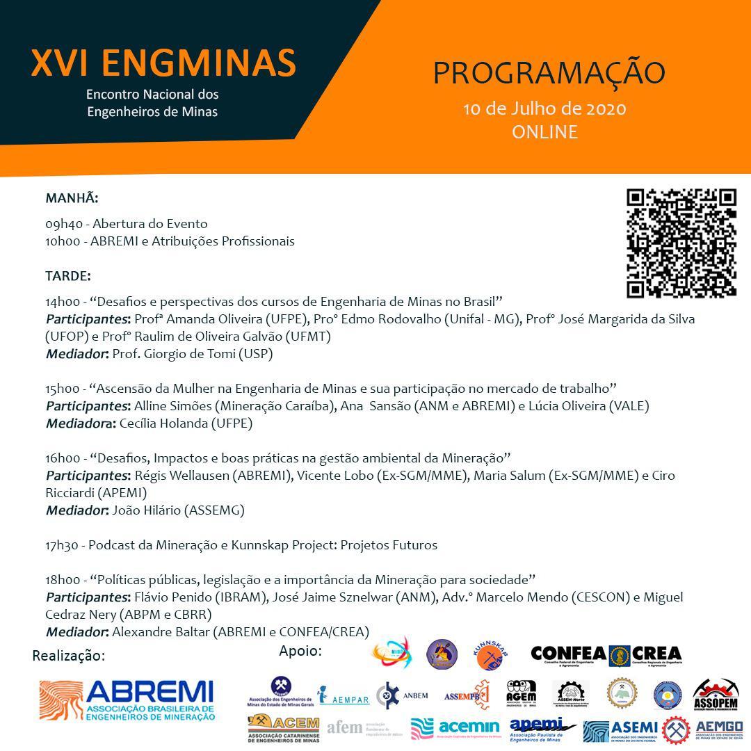 Read more about the article VEM AÍ, o XVI Encontro Nacional dos Engenheiros de Minas