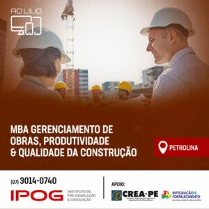 MBA do IPOG PETROLINA qualifica engenheiros para setor produtivo