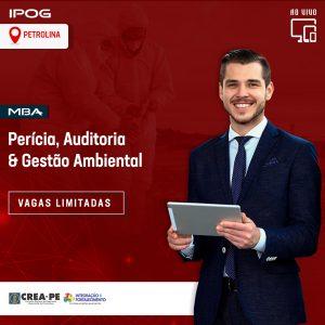 IPOG Petrolina abre inscrições para o MBA em Perícia, Auditoria e Gestão Ambiental