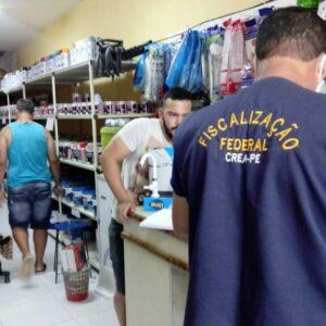 Fiscalização Dirigida do Crea no Agreste atua em Toritama