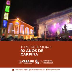 11.09 – Aniversário de Carpina