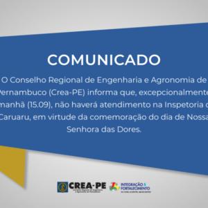 Comunicado Atendimento Caruaru