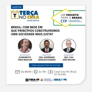 Um Projeto para o Brasil vai ser aberto hoje, no Terça no Crea