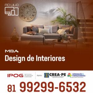 Pós-Graduação em Design de Interiores: Adquira habilidades disputadas pelo mercado sem sair de casa