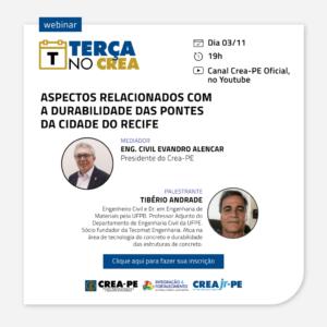 Condições das pontes do Recife será assunto do Terça no Crea