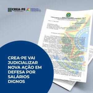 CREA-PE vai judicializar nova ação em defesa por salários dignos