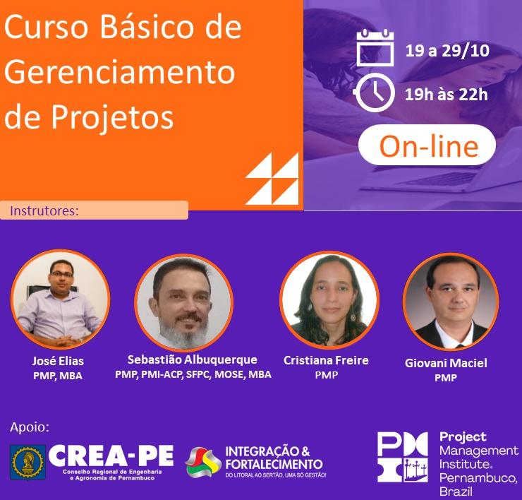 Read more about the article PMI-PE oferece curso básico de Gerenciamento de Projetos – on-line