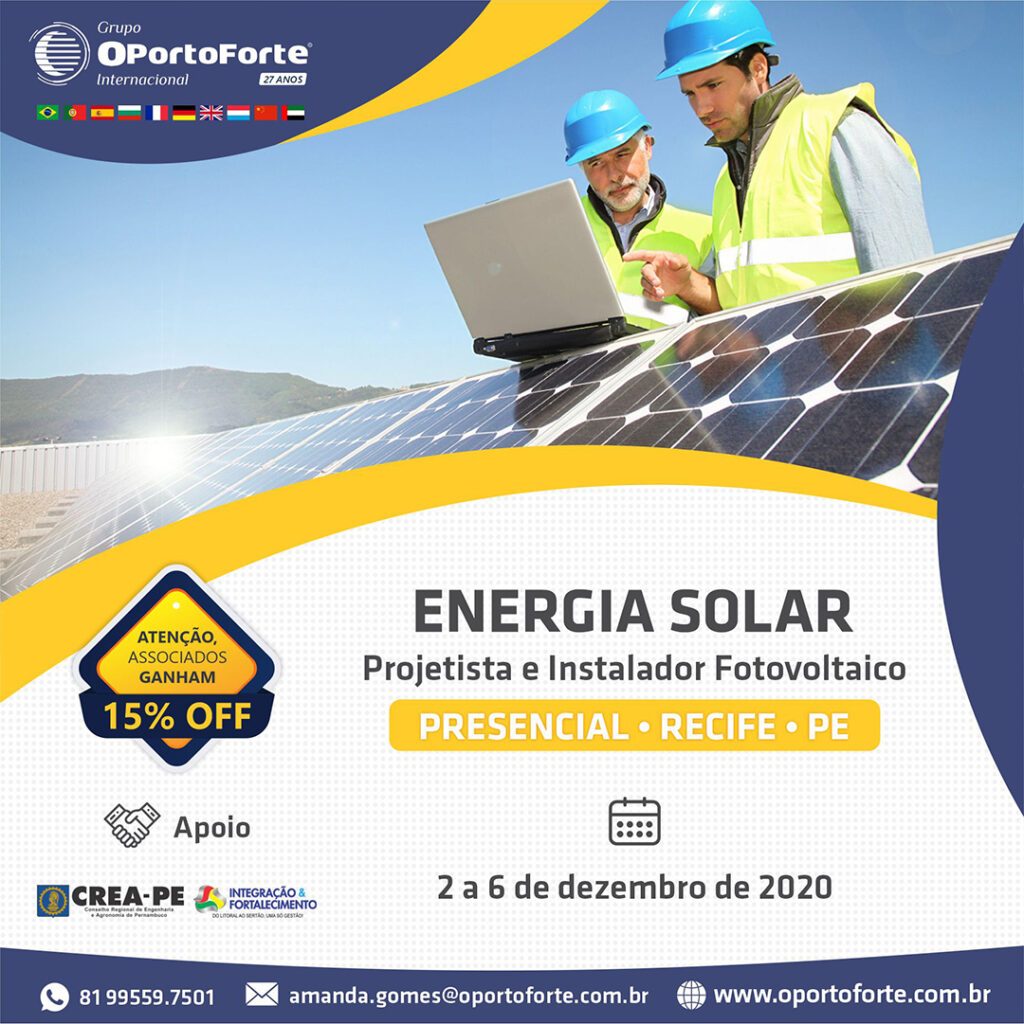 Read more about the article Curso Projetista + Instalador de sistema de energia solar fotovoltaica
