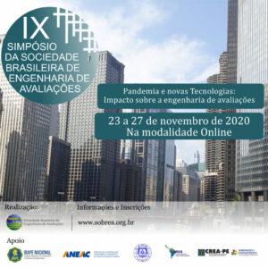 IX Simpósio da Sociedade Brasileira de Engenharia de Avaliações