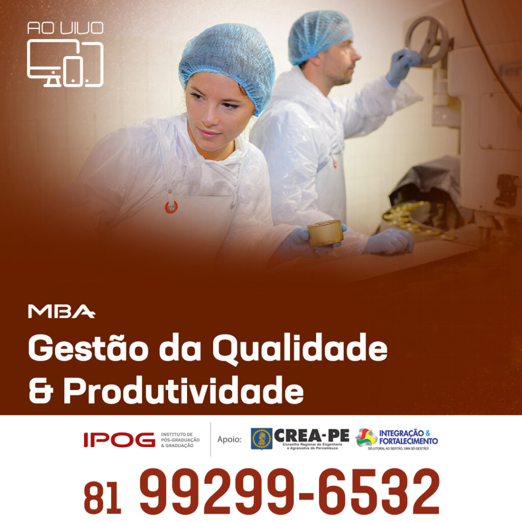 Read more about the article IPOG relança MBA em Gestão da Qualidade e Produtividade em formato remoto