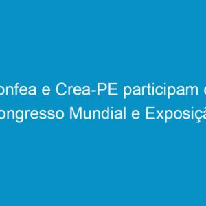 """Confea e Crea-PE participam do Congresso Mundial e Exposição """"Ingenieria 2010 Argentina"""""""