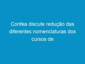 Read more about the article Confea discute redução das diferentes nomenclaturas dos cursos de engenharia