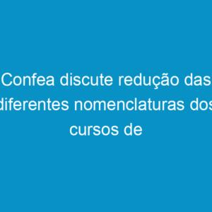 Confea discute redução das diferentes nomenclaturas dos cursos de engenharia