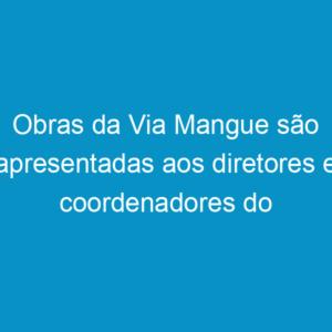 Obras da Via Mangue são apresentadas aos diretores e coordenadores do Crea-PE