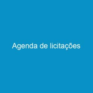 Agenda de licitações