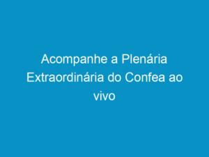 Read more about the article Acompanhe a Plenária Extraordinária do Confea ao vivo