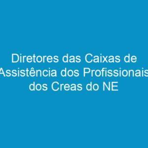 Diretores das Caixas de Assistência dos Profissionais dos Creas do NE se reúnem em Pernambuco