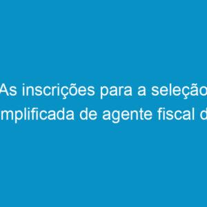 As inscrições para a seleção simplificada de agente fiscal do Crea-PE terminam sexta-feira