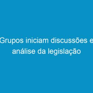 Grupos iniciam discussões e análise da legislação
