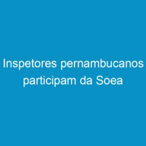 Inspetores pernambucanos participam da Soea