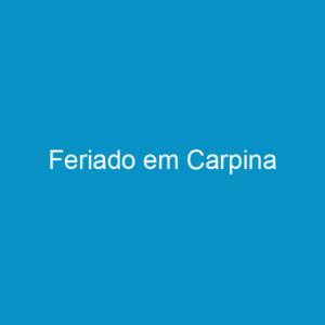 Feriado em Carpina