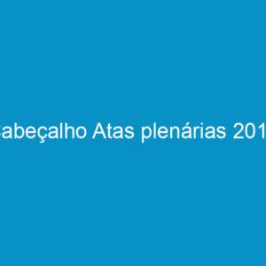 Cabeçalho Atas plenárias 2013